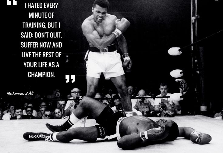 Muhammed Ali motivational quote for training